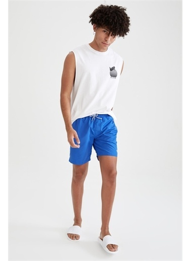 DeFacto Kısa Yüzme Şortu Mavi
